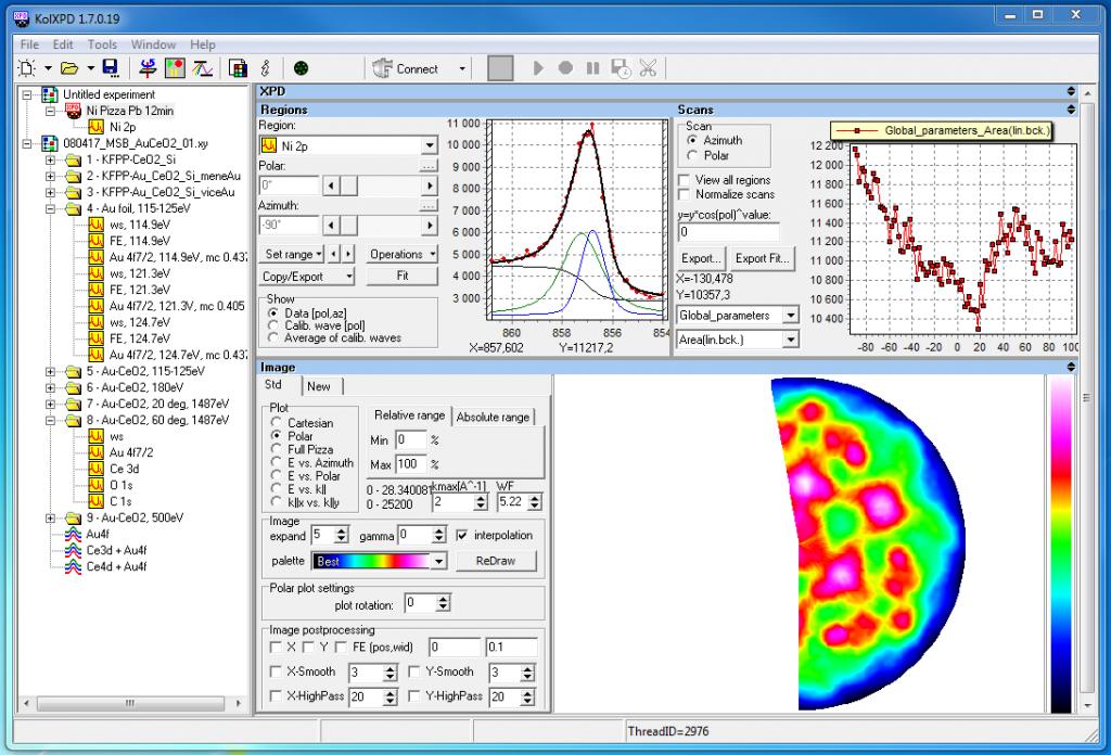 Software misura ed elaboarzione dati in SPETTROSCOPIA